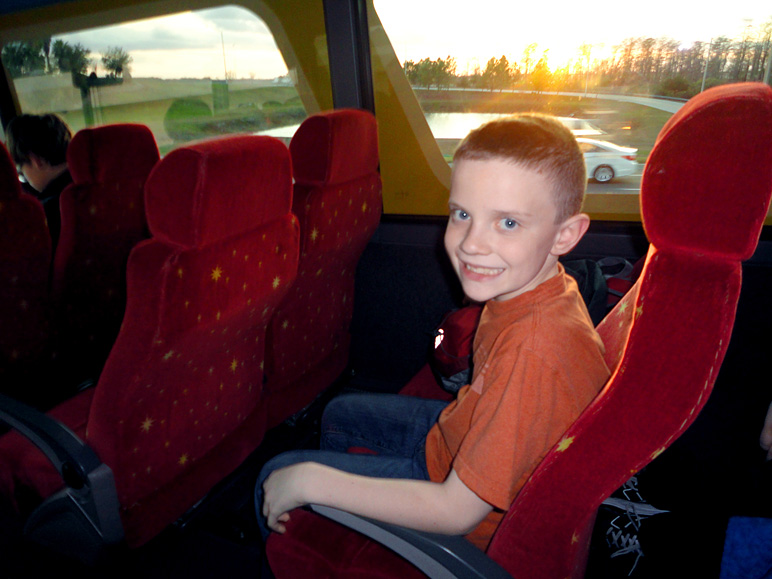 Jake on Disney's Magical Express to Disney World (153.62 KB)