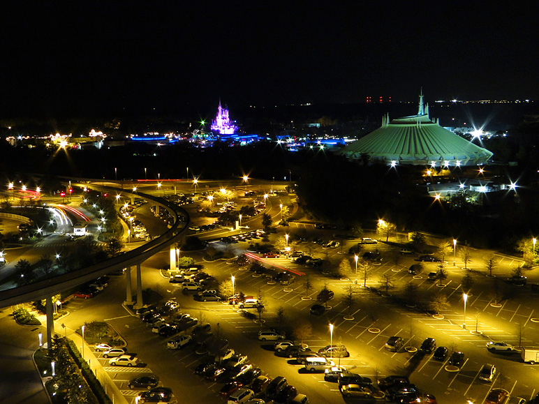 Magic Kingdom viewed from the Top of the World Lounge at Bay Lake Tower (240.82 KB)