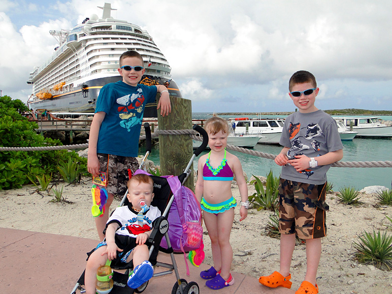 I love this picture of the kids.  Castaway Cay.  Disney Dream.  Swimsuits.  Love it. (263.37 KB)