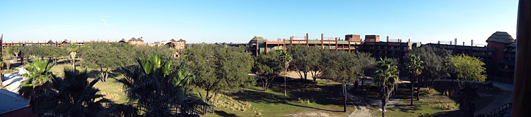This is a panoramic view from our room at Animal Kingdom Lodge (87.35 KB)