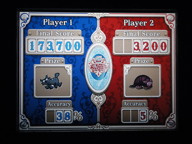 My score on Toy Story Mania is on the left. (197.45 KB)