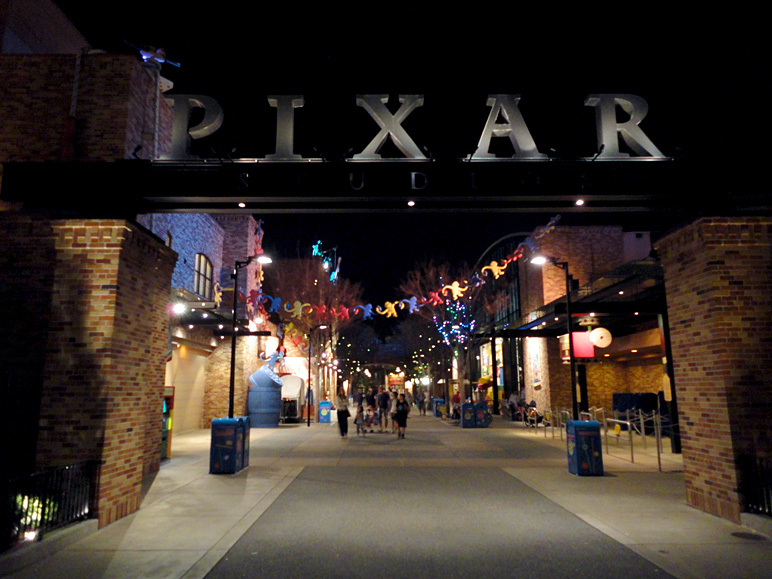 Pixar Place at Hollywood Studios at night (184.23 KB)