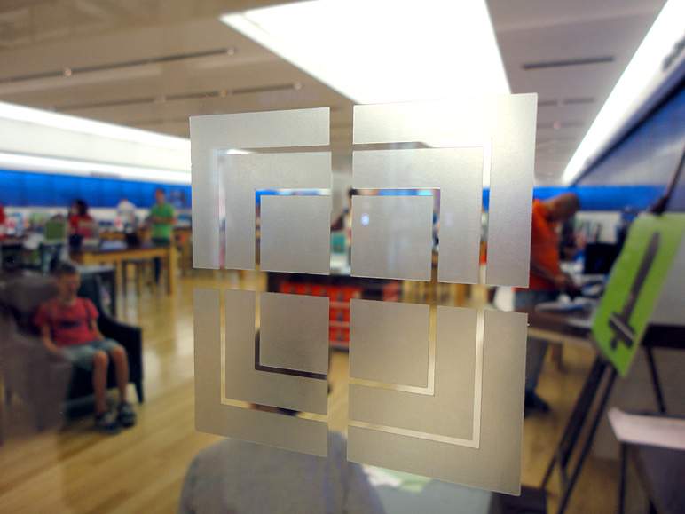 This is the logo on the glass of a Microsoft Store (136.87 KB)